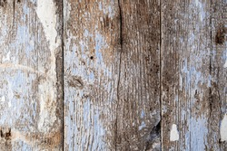 Texture of old painted cracked and bugged boards, pattern, texture, fence, abstract drawing, white, blue