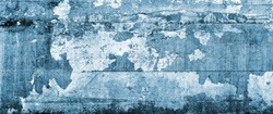 Texture of old peeling paint, vintage background, it's time to make repairs, cracked paint.  Clipart, old paint, cracked paint on the wall with traces of moss. Gradient blue, yellow, and Sepia, toning