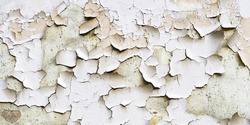 Texture of old peeling paint, vintage graffiti background, it's time to make repairs, cracked paint texture.  Clipart, white, blue old paint, cracked paint