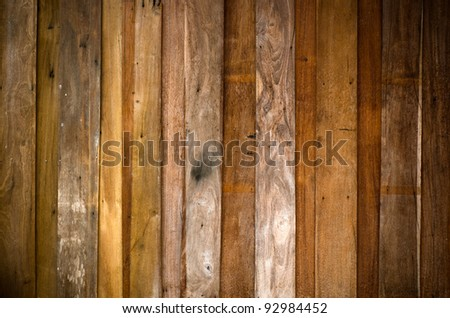 Texture of old plank wood wall for background