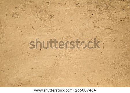 Texture of old rustic wall covered with yellow stucco | EZ Canvas