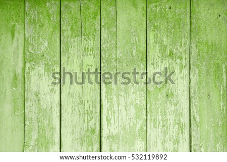 texture of old wooden boards covered in colors of the year 2017 GREENERY pantone #532119892