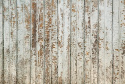 texture of old wooden boards with peeling white paint