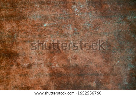 Texture of old wooden table with scratches and stains. Burgundy vintage background. stock photo