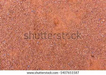 Texture of orange crushed brick dust #1407651587