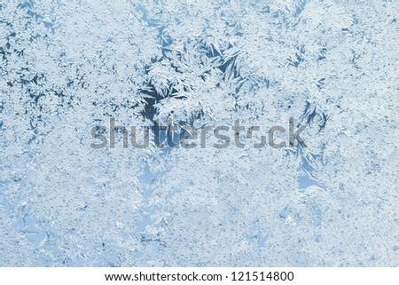 texture of patterns on frozen window glass