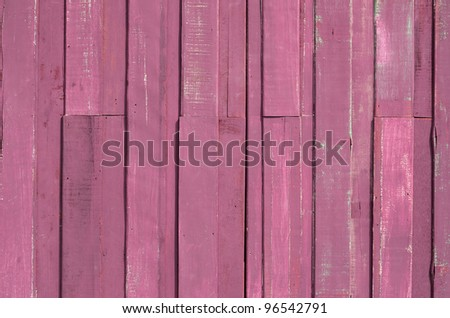 Texture of Pink color paint plank wall for background