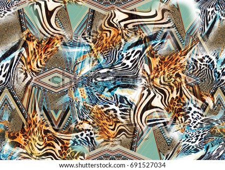 texture of print fabric  leopard for background,fabric pattern
