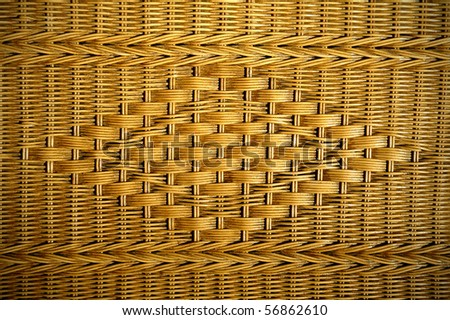texture of rattan furniture