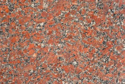 Texture of red, black and white marble. Stone tile with natural pattern. Marble pavement closeup.