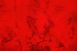 Texture of red decorative plaster or concrete. Abstract grunge background for design.