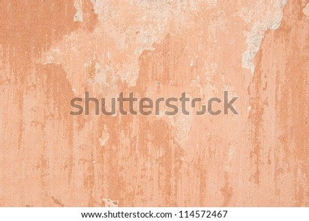 Texture of red plaster on wall