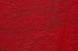 texture of red plaster wall background