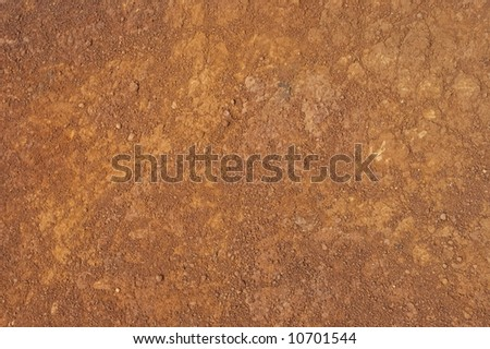 Texture of red rocky ground