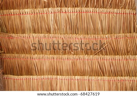 Texture of roof made from grass