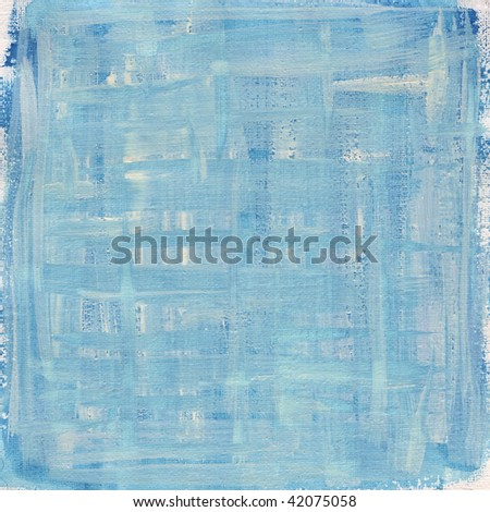 texture of rough blue and white watercolor abstract on artist cotton canvas, self made