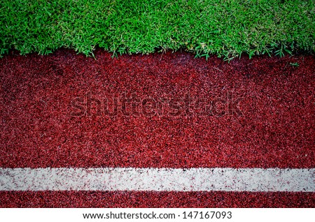 texture of running track cover with rubber