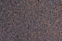 Texture of rusty metal. Rough metal surface with rust. Corroded and oxidized old iron. Rusted and aged metal sheet. Perfect for background and design in grunge style. High resolution texture.