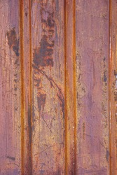 Texture of rusty metal. Rough surface of metal with rust. Corroded and oxidized old iron. Rusted metal wall of the container. Perfect for a Grunge background and design.