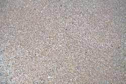texture of sand and pebbles, shells and stones