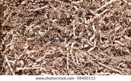 stock photo : texture of shredded paper for Gifting, Shipping and Stuffing