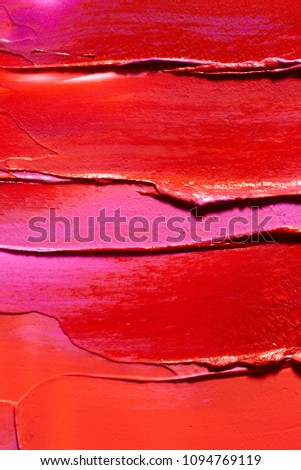 Texture of smudged lipsticks