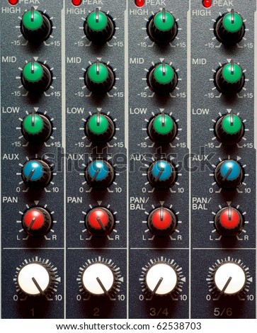 Texture of sound mixer. Techno design.