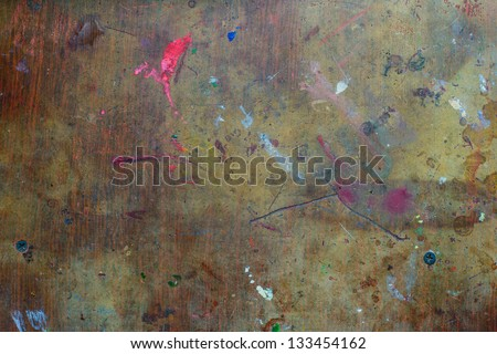 Texture of stained table for drawing