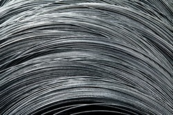 Texture of steel wire in a coils