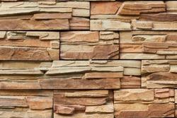Texture of stone. Masonry. Decorative facing of facades, walls.