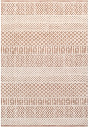 Texture of textile rug with pattern of color.