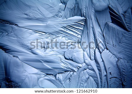 texture of the ice, cracks and sharp edges of the glass frozen water, frosty background