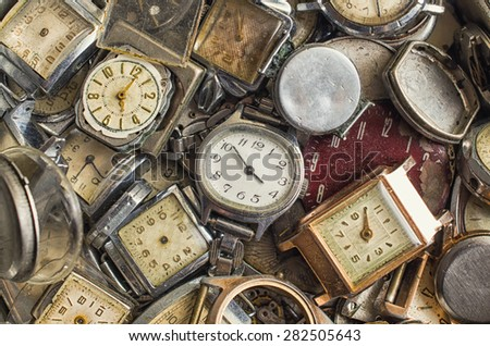 texture of the old clock,a lot of old clock
