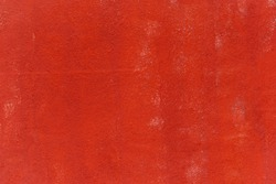 Texture of the old red wall with white spots.