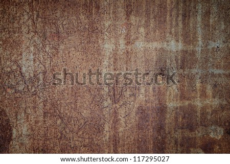 texture of the old rusty iron