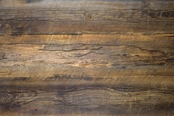 texture of the old wooden table for background bark moth