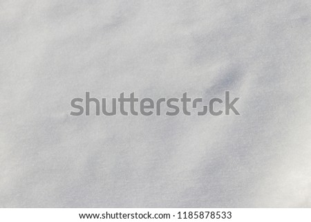 Texture of the white snow. Winter background #1185878533