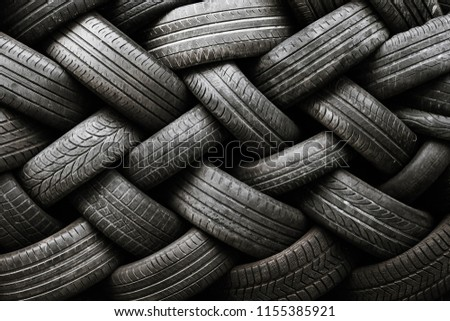 texture of used tires