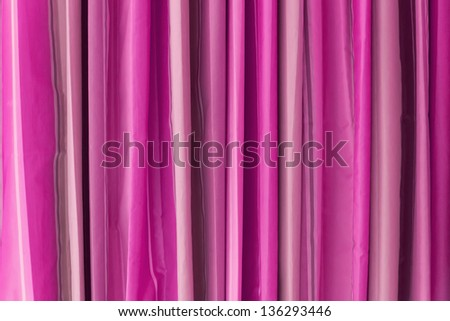 Texture of Vertical Pink Tone Curtain For Background