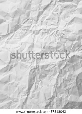 texture of White crumpled paper full frame