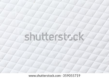 Texture of White mattress bed for background