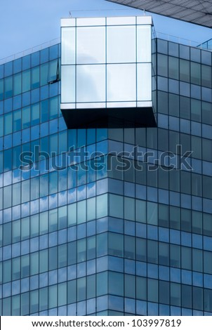 Texture of windows of modern buildings