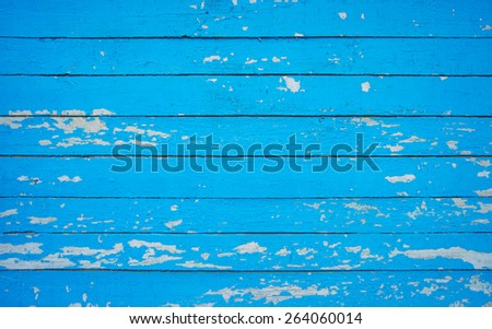 Texture of Wood blue panel for background