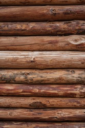 texture of wood log pile background