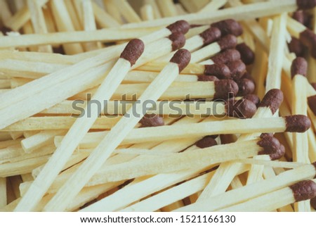 Texture of wooden matches. Matches.  Matches Pattern. Abstract Background of Matches Pattern.