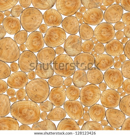Texture of wooden trunks used as seamless wallpaper