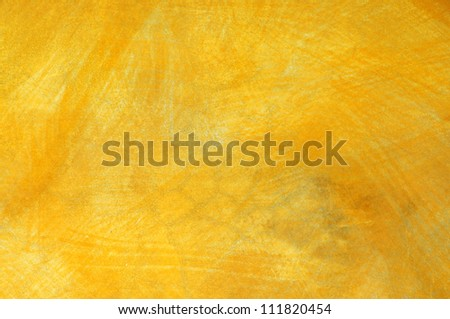 Texture of yellow grunge wall background