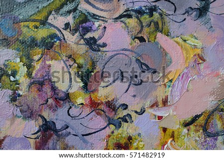 texture oil painting gold bright color texture of brush strokes