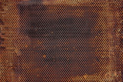 Texture old paint on a rust metal surface. Metal background, rust, copy space