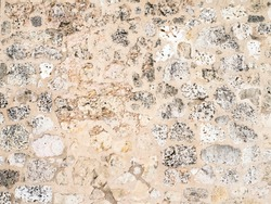 Texture, old wall, coral limestone